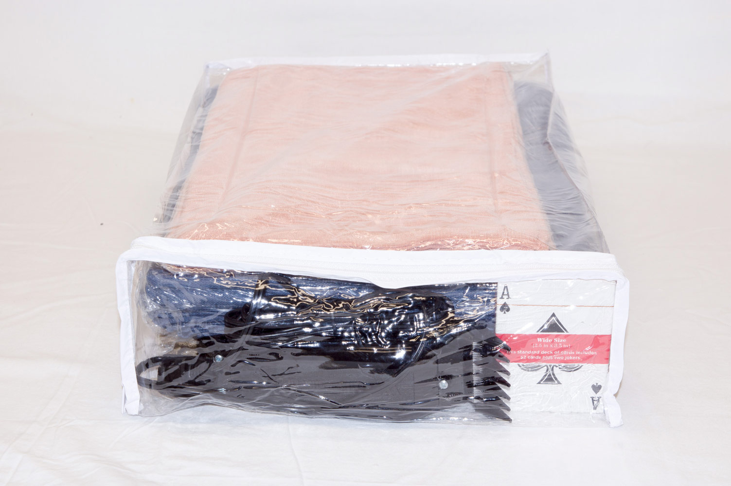 5 Pack Heavy Duty Vinyl Zippered Closet Bags Clear 11 X