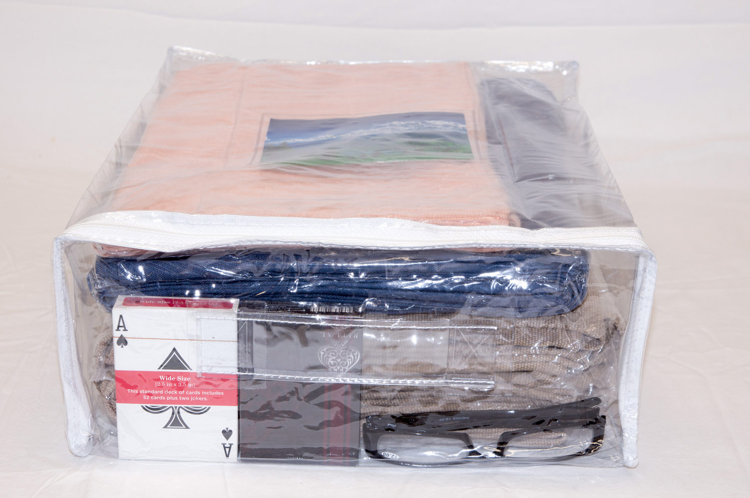 5 Pack Heavy Duty Vinyl Zippered Storage Bags Clear 12 X