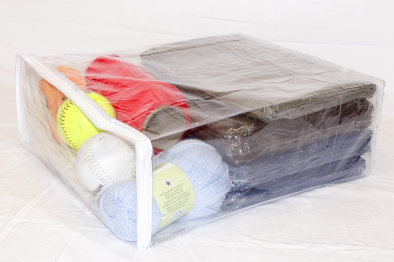 5 Pack Heavy Duty Vinyl Zippered Storage Bags Clear 15 X
