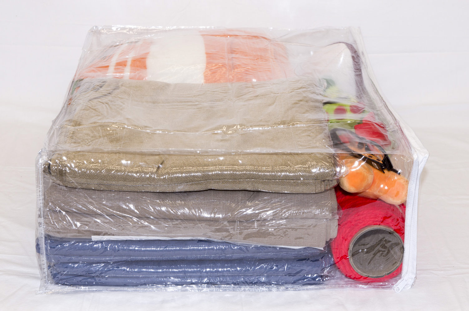 10 Pack Heavy Duty Vinyl Zippered Storage Bags Clear 22 X