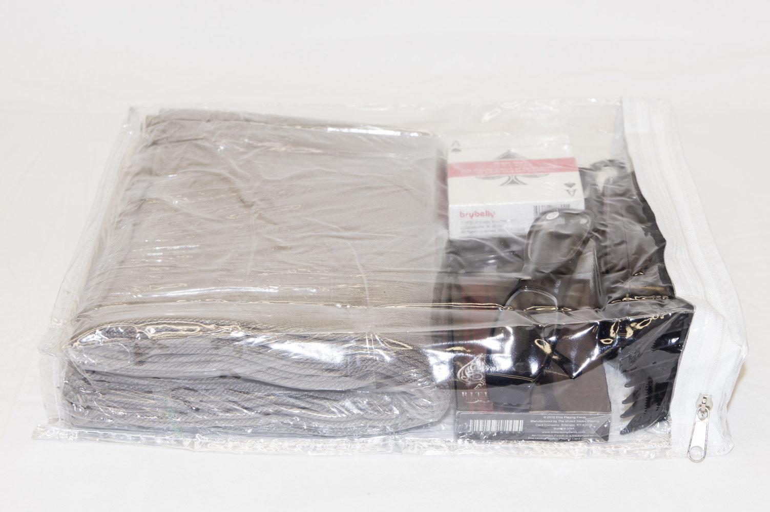 10 Pack Heavy Duty Vinyl Zippered Storage Bags Clear 9 X
