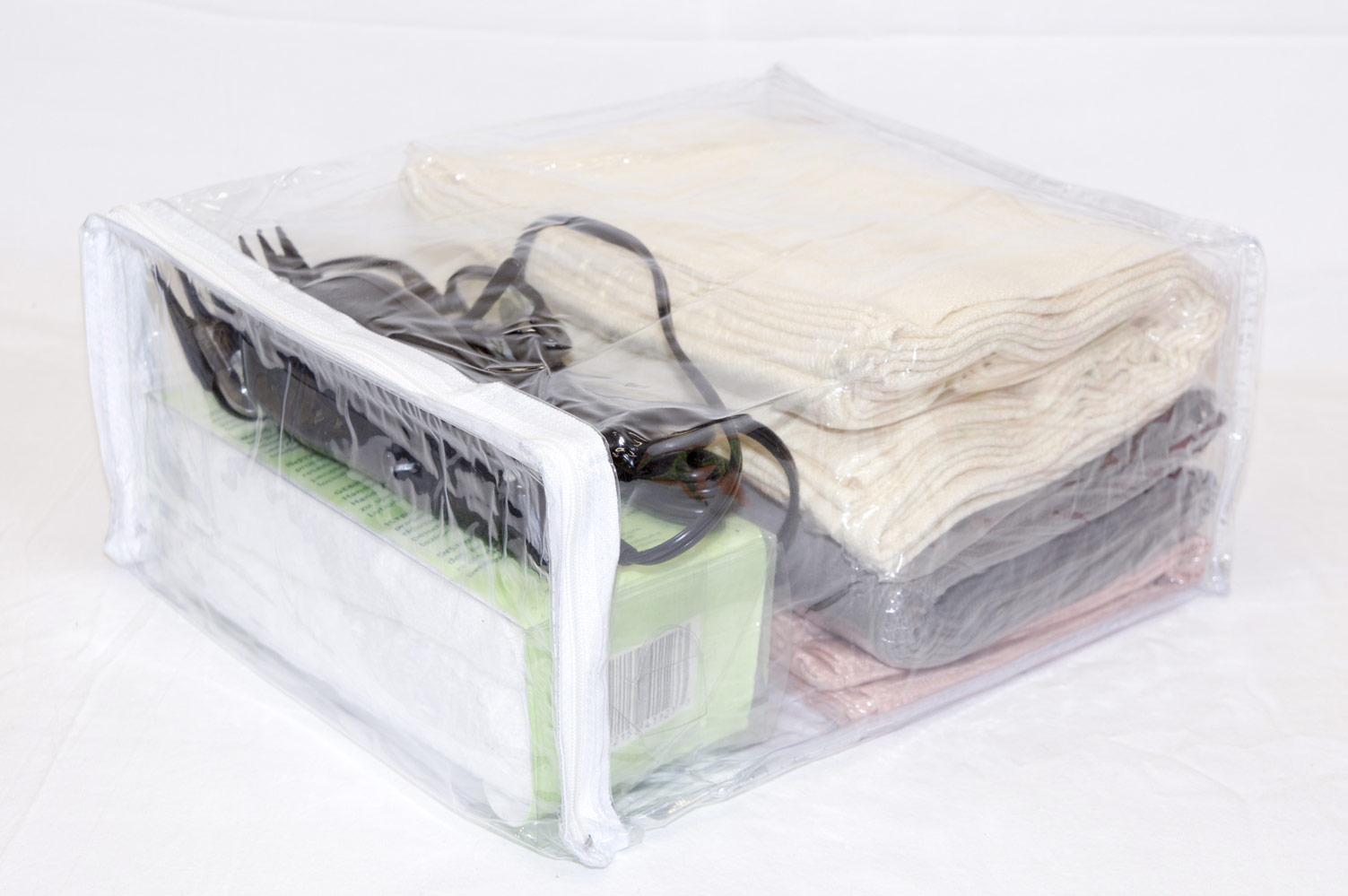 5 Pack Heavy Duty Vinyl Zippered Storage Bags Clear 9 X 11 2 1 Gallon
