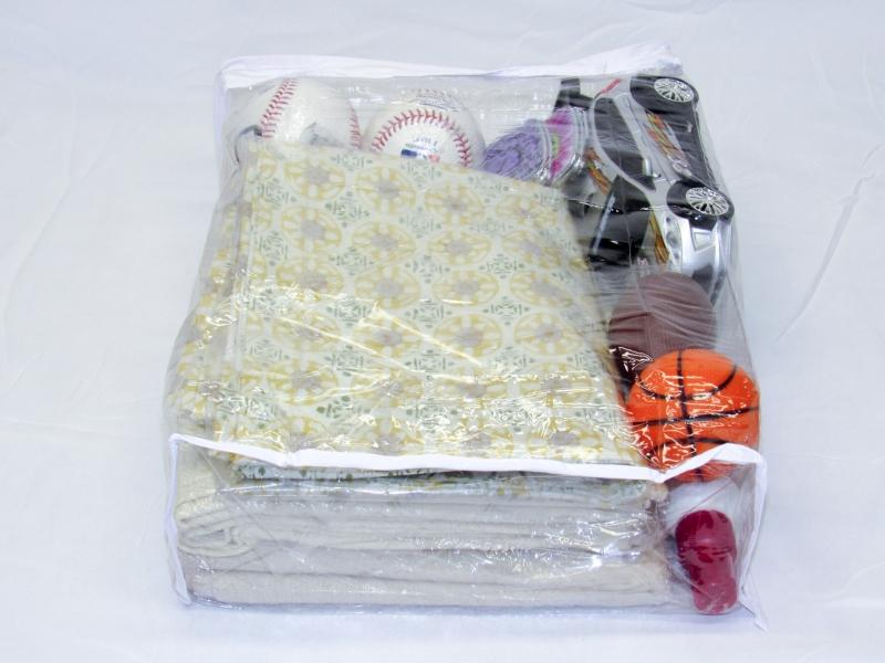 Heavy duty vinyl zippered closet bags clear ″