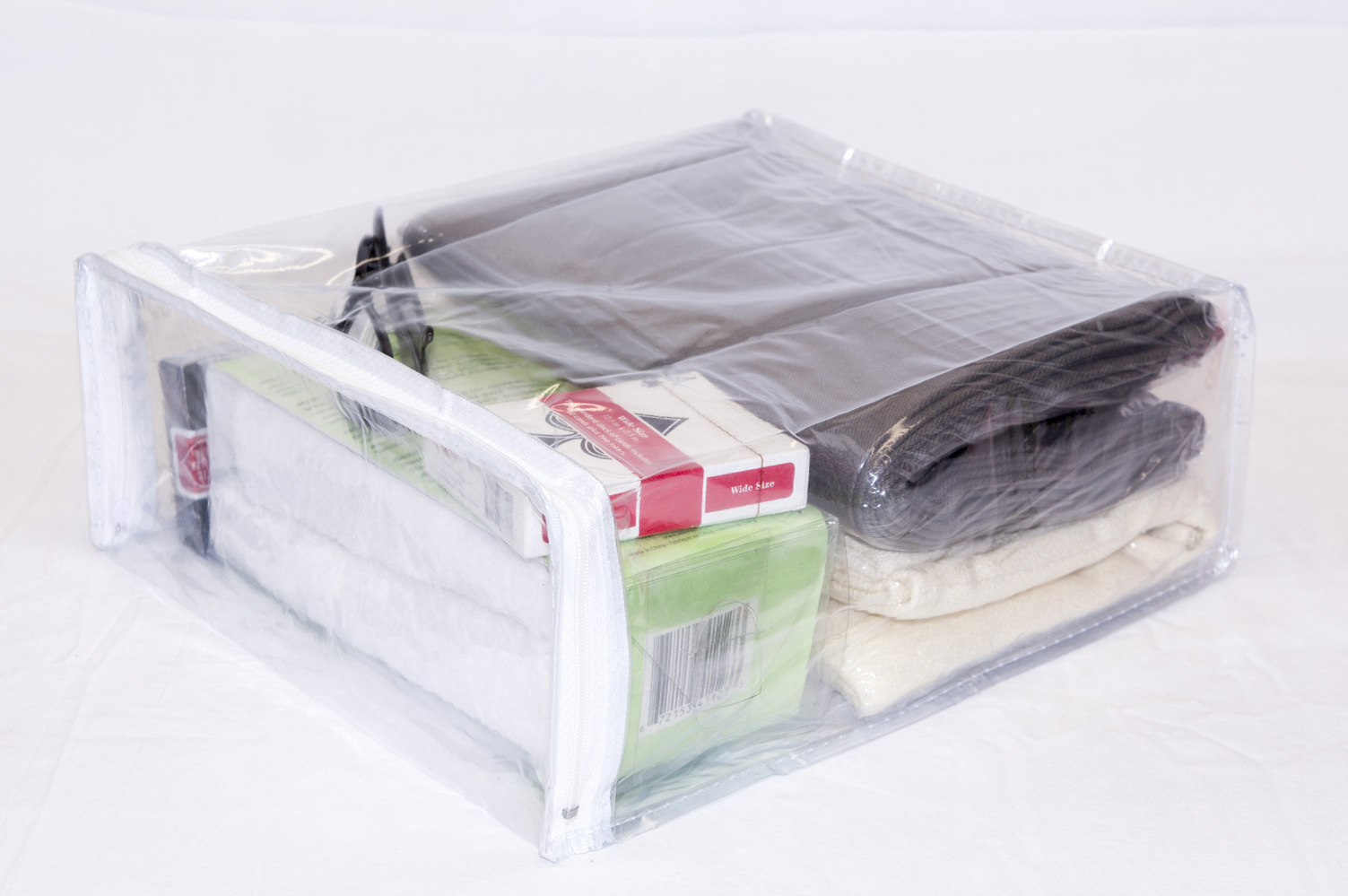 10 Pack Heavy Duty Vinyl Zippered Storage Bags Clear 9 X 11 4 1 7 Gallon
